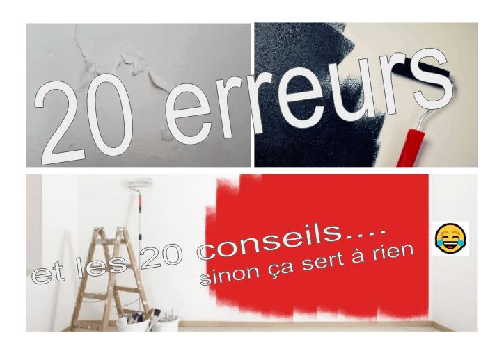 20 erreurs à éviter pour vos travaux de peinture intérieure