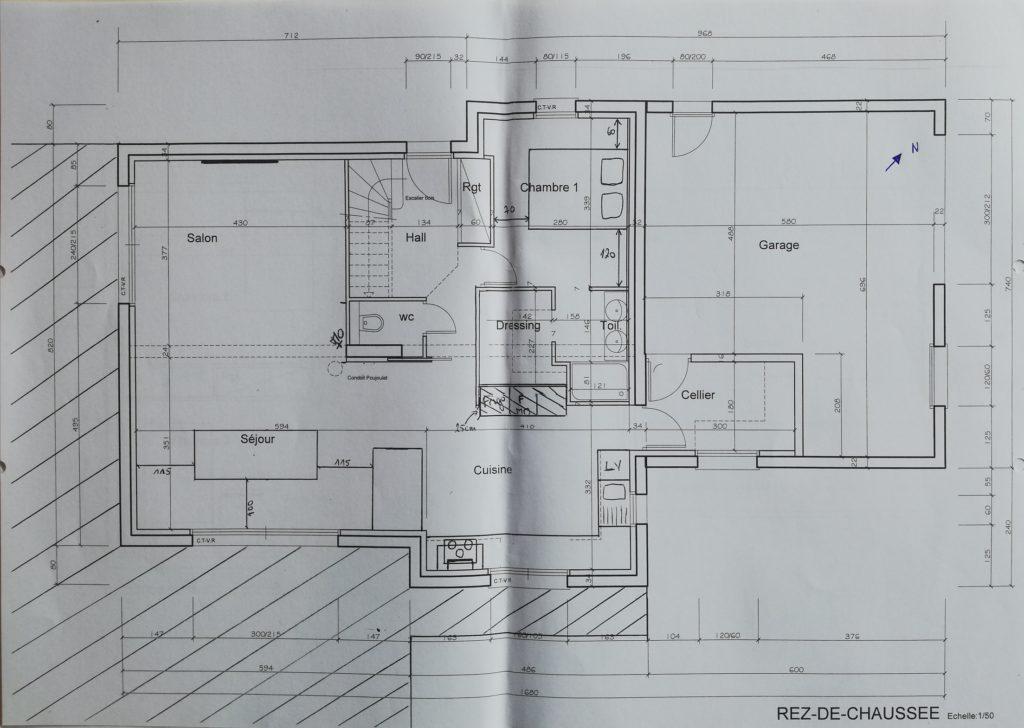 Plan de maison pratique et simpleRDC
