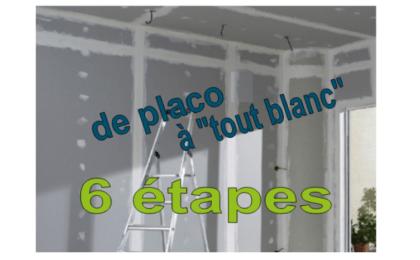 étapes travaux peinture dans une construction de maison