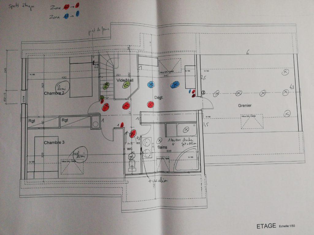 plan appareillage électrique maison neuve