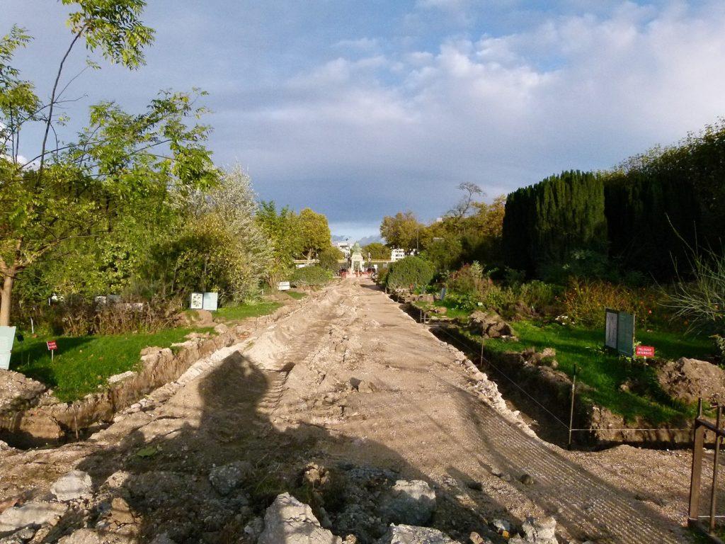 photo de chemin d'accés vers future maison neuve