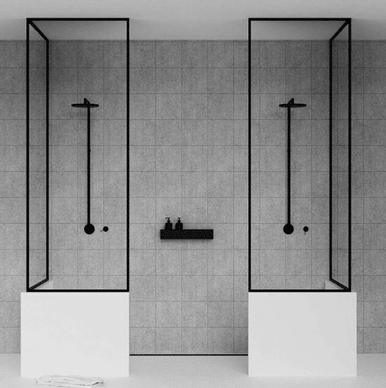 2 douche à l'italienne séparées modernes