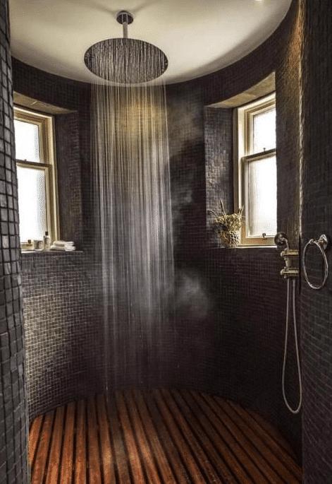 douche à l'italienne en rond
