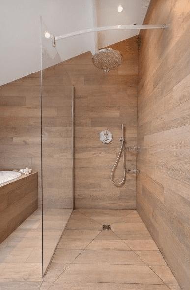 douche italienne sous mansarde
