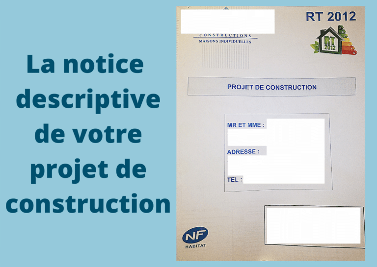 notice descriptive construction maison