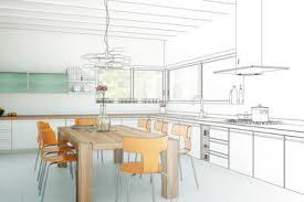 les éléments et équipements de la cuisine dans un prêt construction maison