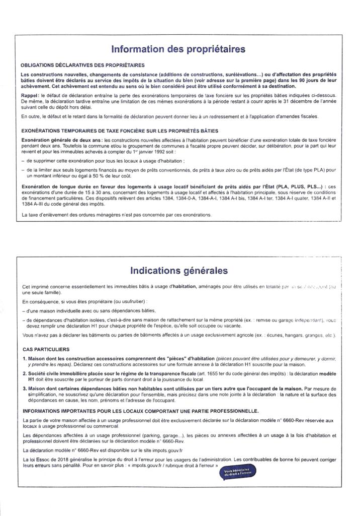 Formulaire H1 page 4