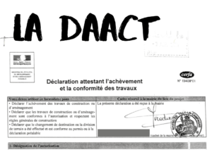 le formulaire DAACT