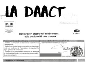 le formulaire DAACT