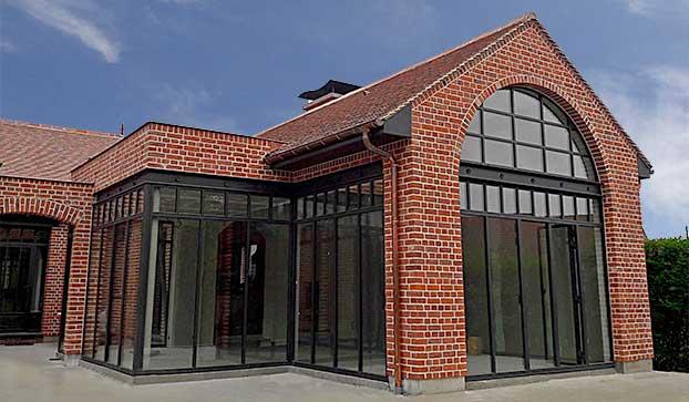 exemple construction maison en brique de parement