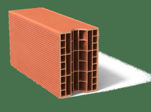 brique monomur avec perforations verticales