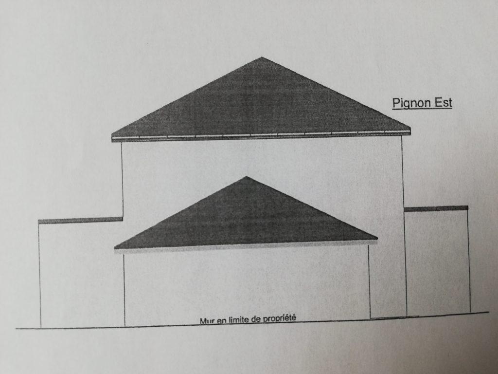 le pignon Est de ce plan maison 180m2