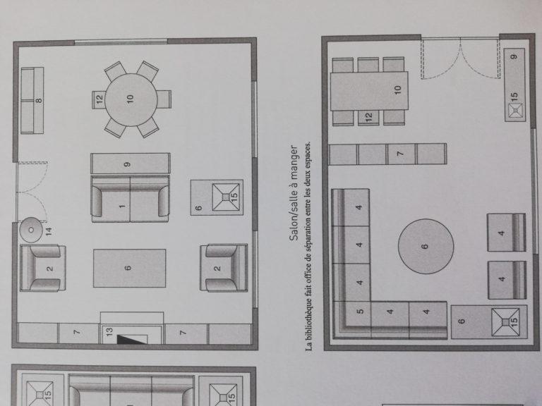 aménagement type pour un séjour-salondans le livre la maison sur mesure